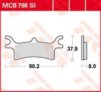 Тормозные колодки TRW / Lucas MCB798SI