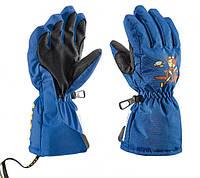 Перчатки горнолыжные детские Leki Little Pilot синие