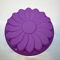 """Форма силиконовая """"ромашка"""" сиреневая диаметр 24 см."""