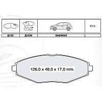 Колодки тормозные передние INTELLI DAEWOO LANOS 1.5 97-, MATIZ 97-,  CHERY QQ 0,8, 1.0