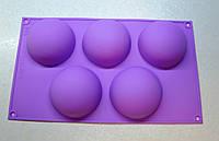 Форма силиконовая полусфера 8*4,5 см.