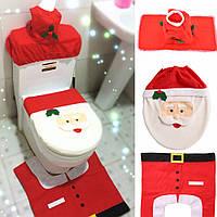 Новогодние украшения, чехлы для ванной комнаты