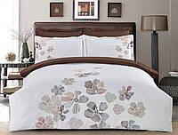 Евро комплект постельного белья Цветы