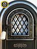 Печная дверца со стеклом Олени, чугунные дверки для печи и барбекю, фото 3