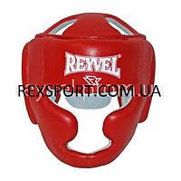 Шлем тренировочный кожаный красный REYVEL