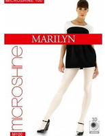 Блестящие плотные  колготки Marilyn Microshine 100