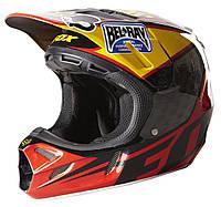 Мотошлем Fox V4 REED OUTDOOR REPLICA helmet красно-черный, L