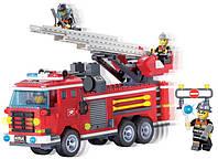 Koнcтpуктop аналог LEGO Brick 904 Пожарная машина