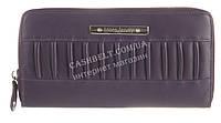 Функциональный прочный кожаный качественный женский кошелек барсетка MORO art. MR-81-76D фиолетовый