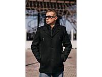 Мужское кашемировое пальто с капюшоном (46,48,50,52,54,56)