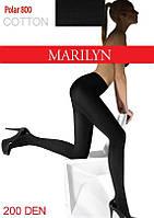 Теплые хлопковые колготки на флисе Marilyn Polar cotton 800
