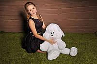 Мягкая игрушка зайка Снежок белый 100 см ЗС8-22 (мягкая игрушка заец)
