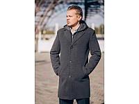 Мужское кашемировое пальто с капюшоном (46,48,50,52,54,56,58)
