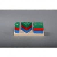 Деревянные игрушки геометрическая пирамида Комаровтойс А 309