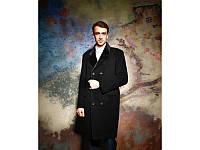 Мужское кашемировое двубортное пальто с воротником из нерпы (46,48,50,52,54,56)