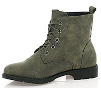Темно зеленого цвета ботинки