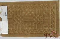 Набор ковриков для ванной 60х100, 60х50 хлопок Arya Berceste коричневый