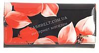 Стильный лаковый женский кожаный кошелек высокого качества H.VERDE art. 51030L-F99B цветы
