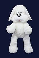 Мягкая игрушка зайка Снежок белый 65см №2, ЗС8-14 (мягкая игрушка заец)