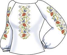 СВЖБ-52. Заготовка Жіноча сорочка лляна біла