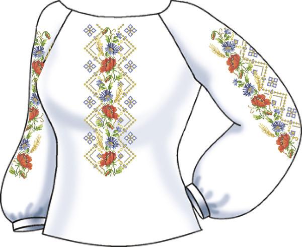 СВЖБ-52. Заготовка Жіноча сорочка лляна біла 39eca297ef0d6