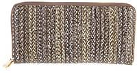 Функциональный кожаный лаковый качественный женский кошелек барсетка H.VERDE art. 2480-D56 плетенка принт