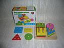 Деревянные игрушки геометрическая пирамида, фото 3