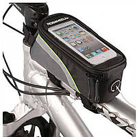 "Велосипедная сумка Roswheel 6"" велосумка для смартфона на раму L Black-Green"