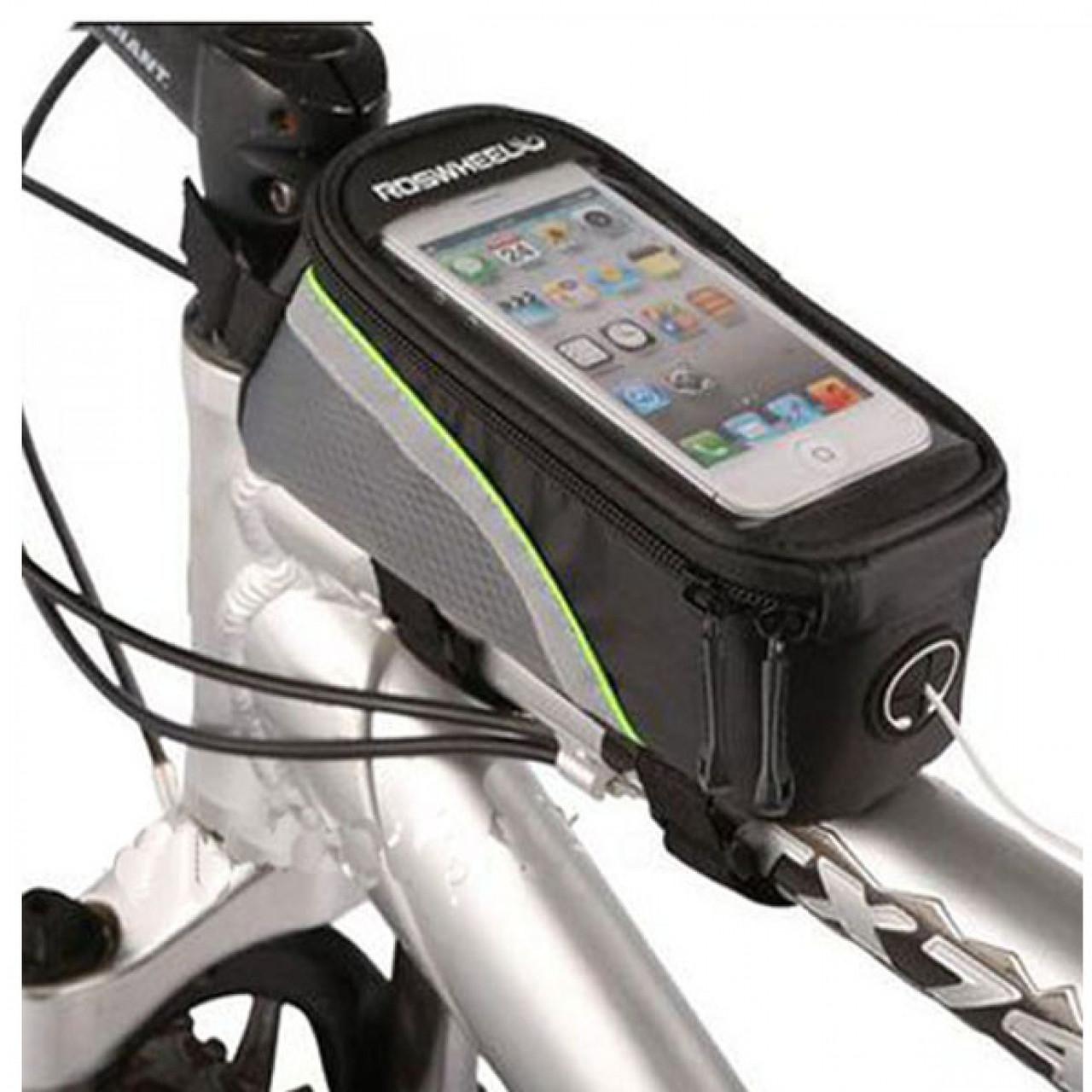 Велосипедная сумка 5.5 Roswheel велосумка на раму L Green