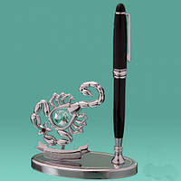 "Письменный набор ""Скорпион"" Swarovski. ручка + статуэтка"