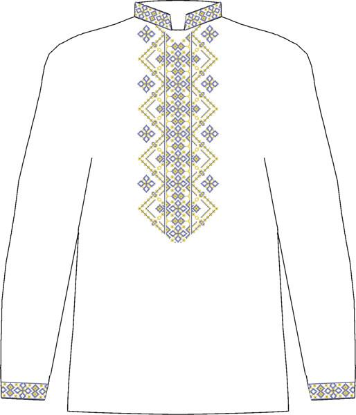 ЧСВЛ-33. Заготовка Чоловіча сорочка лляна сіра