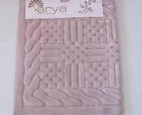Набор ковриков для ванной 60х100, 60х50 хлопок Arya Berceste розовый