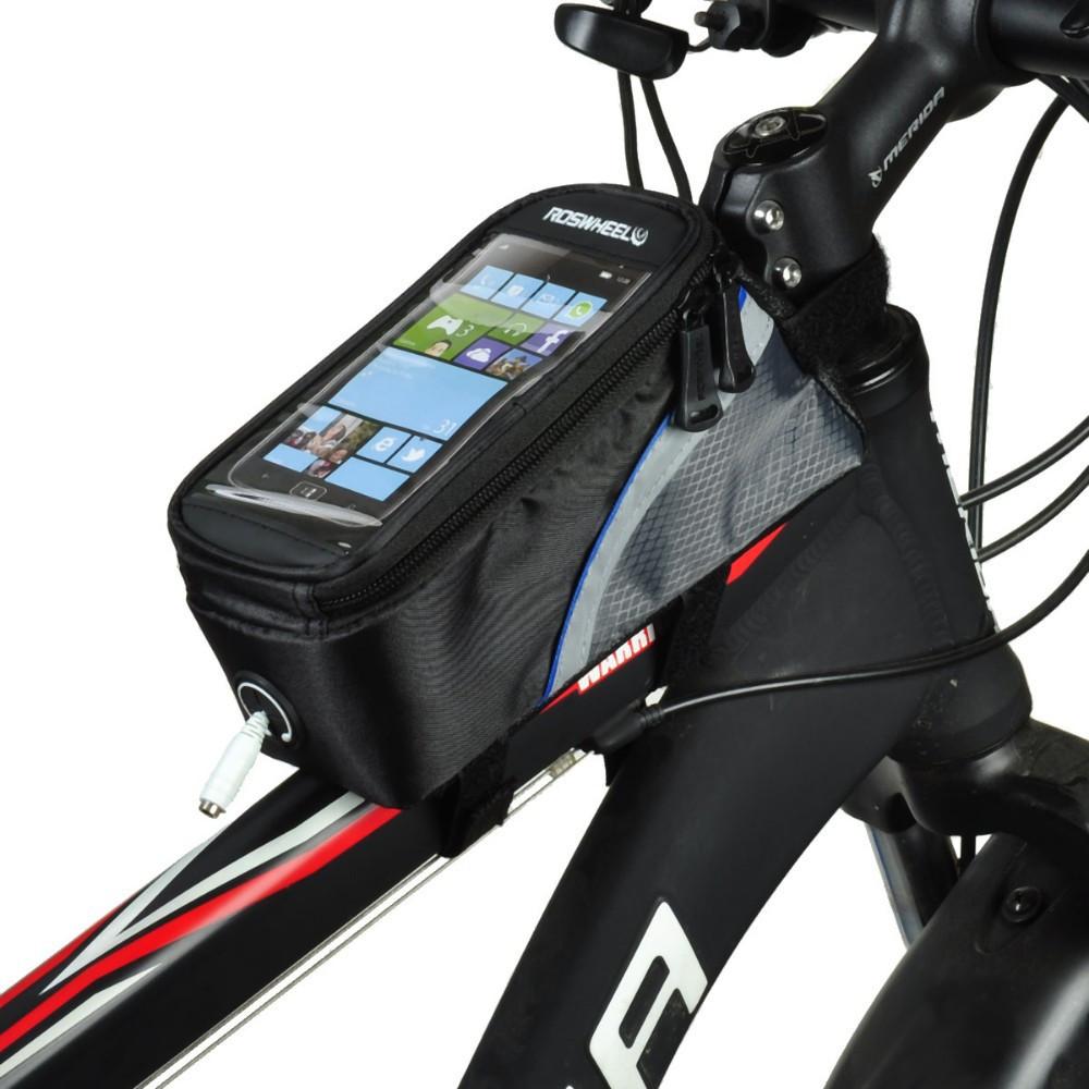 Велосипедная сумка 5.5 Roswheel велосумка на раму L Blue