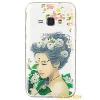 Чехол-накладка Remax Ladies Samsung J120 (J1-2016) Flowers