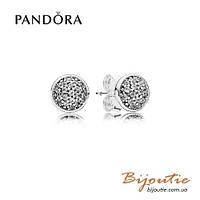 Серьги Pandora ОСЛЕПИТЕЛЬНЫЕ КАПЛИ #290726CZ серебро 925 цирконий Пандора оригинал