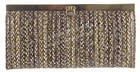 Стильный прочный кожаный лаковый качественный женский кошелек H.VERDE art. 2263-D56 плетенка принт
