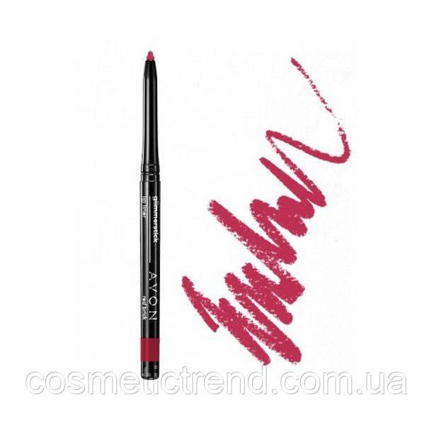"""Контурний олівець для губ """"Ультра"""" True Red (Червоний) Lip Liner 40684 Avon cosmetics"""