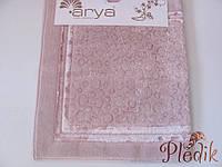 Набор ковриков для ванной 60х100, 60х50 хлопок Arya Hitit розовый