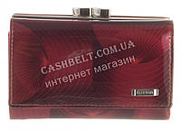Компактный прочный кожаный лаковый качественный женский кошелек H.VERDE art. HV-22  MAUVE 14M бордо