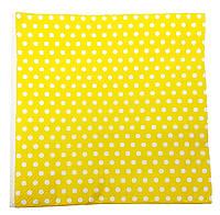 Салфетки бумажные 20шт. горохи желтые