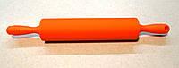 Скалка для теста с силиконовым покрытием 31 см оранжевая