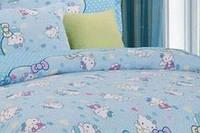 Детский полуторный комплект Hello Kitty-5 голуб. (Китти), бязь (хлопок)