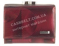 Маленький прочный кожаный лаковый качественный женский кошелек H.VERDE art. HV-23  MAUVE 14M бордо, фото 1