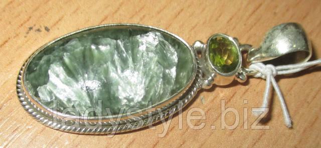 украшения с натуральнным серафинитом купить подвес кулон колье браслет кольцо серебро