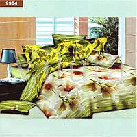 Красивый комплект постельного белья  ранфорс Вилюта