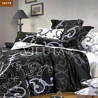 Шикарный комплект белья для спальни в черно-белых тонах ранфорс Вилюта