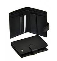 Мужской кожаный кошелек Dr. Bond. Портмоне. Черный.
