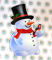 Снеговик. Декорация настенная