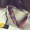 Стильна сумочка з кольоровим пасочком, 4 кольори