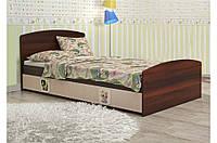 """Детская кровать """"3 в 1"""" 90x190 см + ящ на 3 секции Цвет: орех  темный+венге светлый"""""""